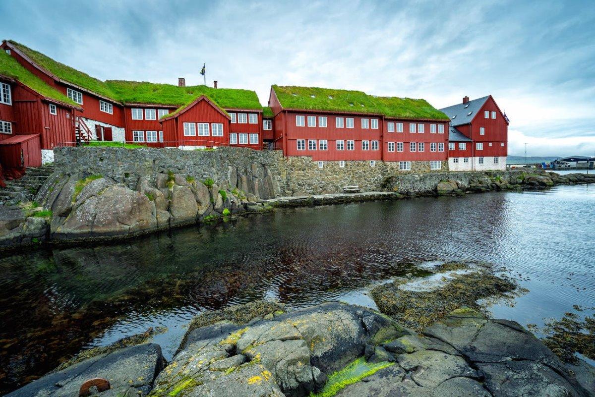 Torshavn πρωτεύουσα νησιά Φερόε μικρότερη στην Ευρώπη