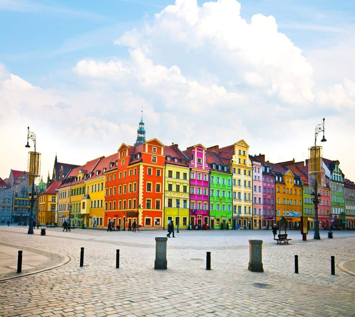 Βρότσλαβ Πολωνία, πολύχρωμα κτήρια
