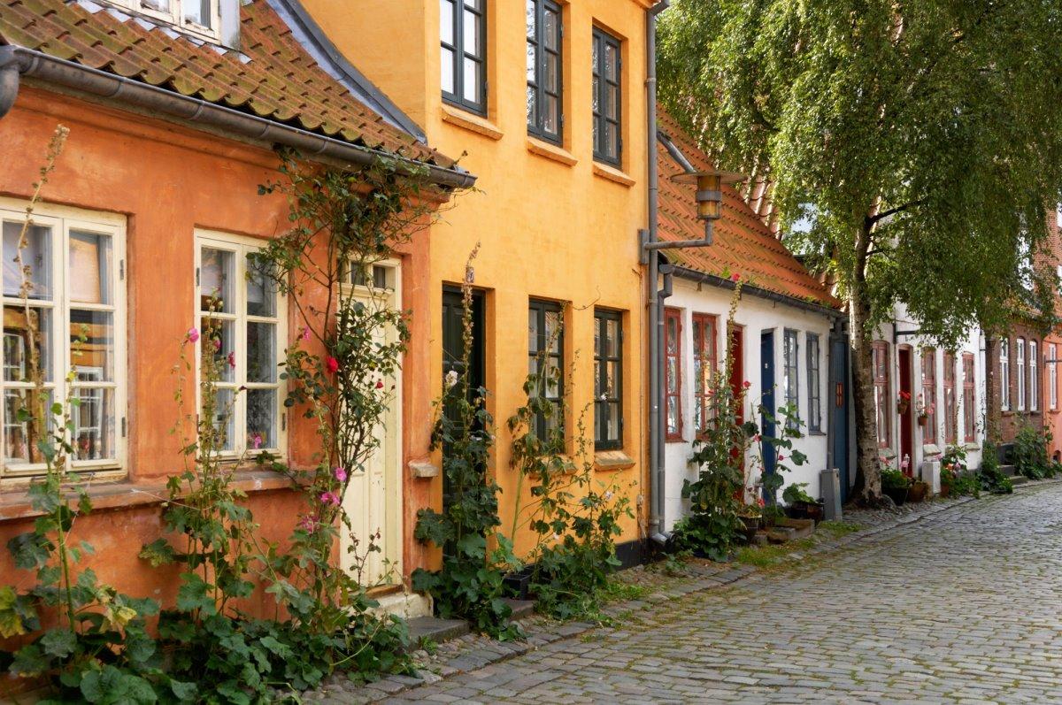 Άαρχους σπίτια στην παλιά πόλη