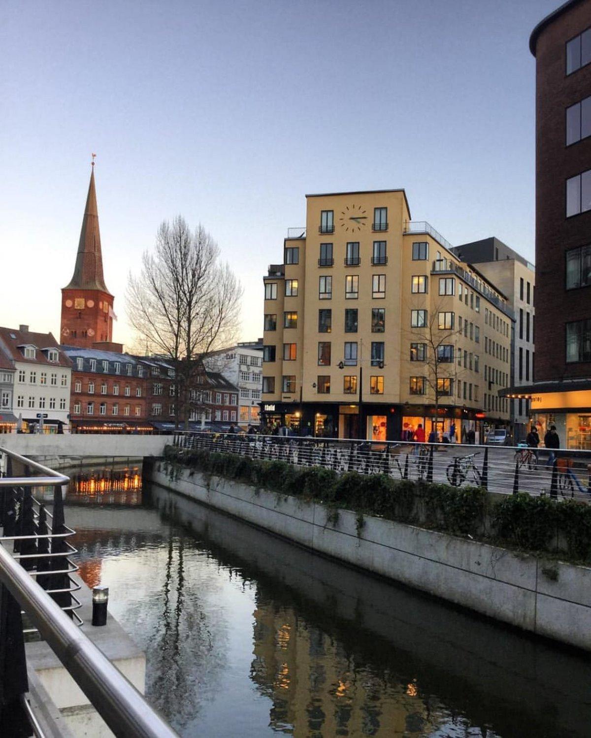 Άαρχους γραφική μικρή πόλη Δανία
