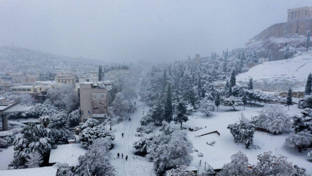 Ακρόπολη χιονισμένη