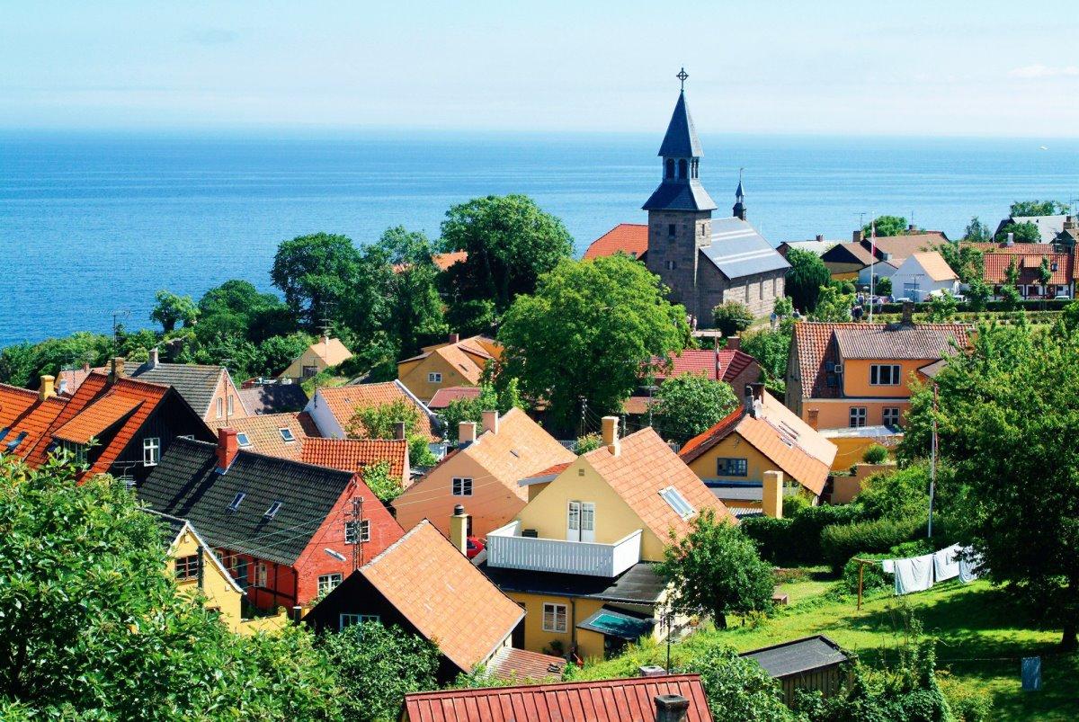 Bornholm πολύχρωμα σπίτια