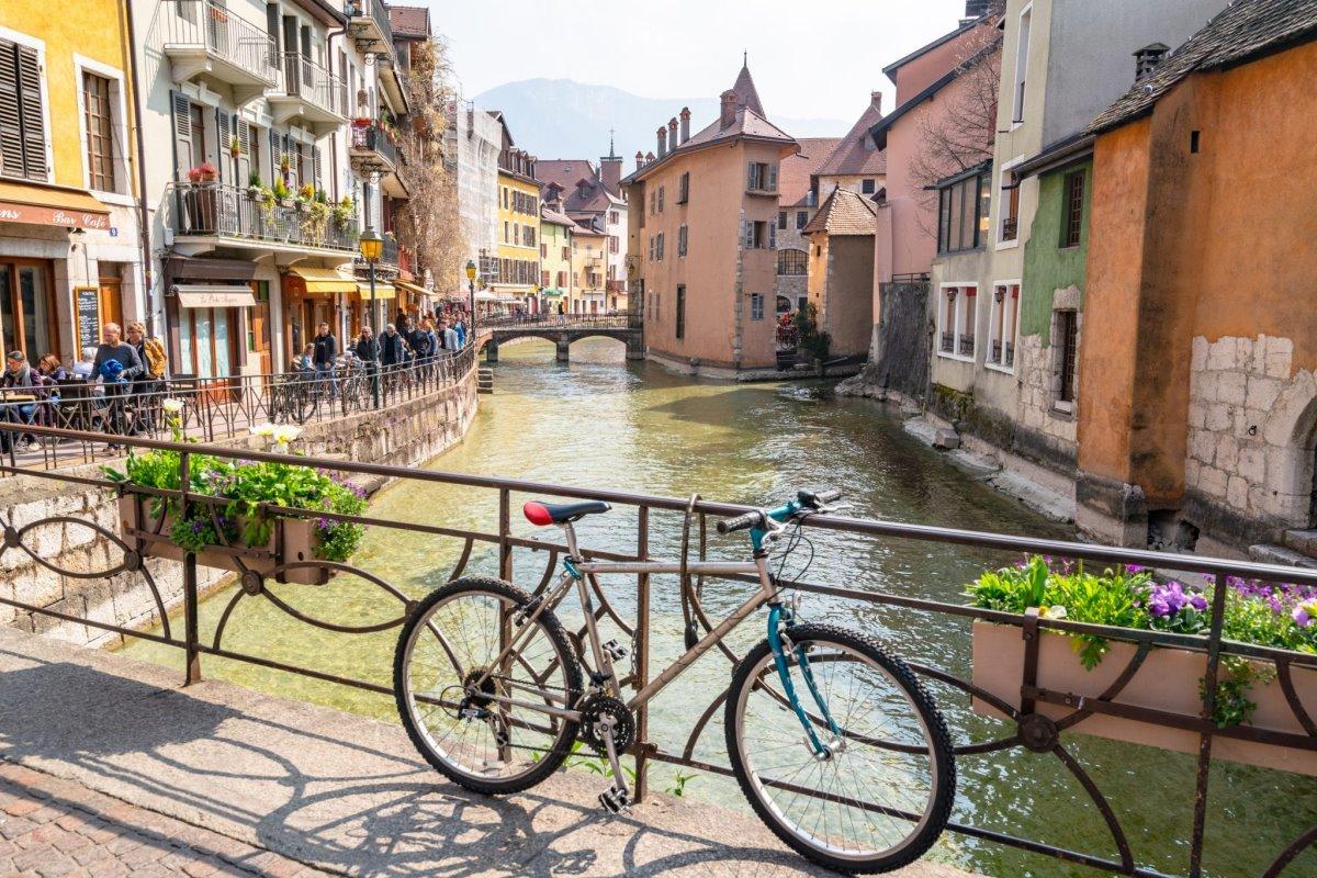 Ανεσί Γαλλία πόλη με κανάλια