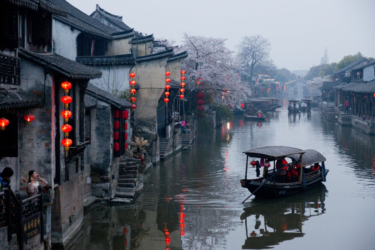 Xitang Κίνα πόλη με κανάλια