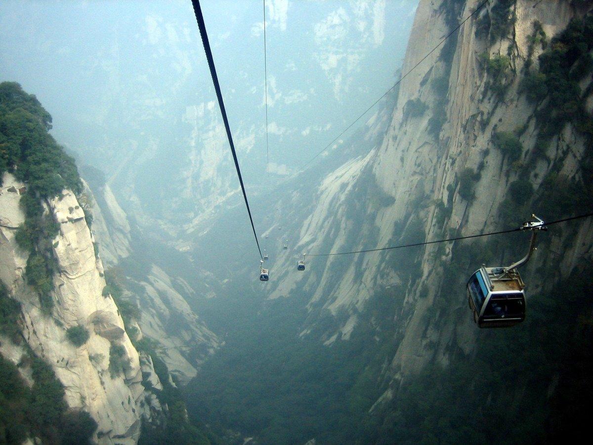 Βουνό Hua (Κίνα) τελεφερίκ