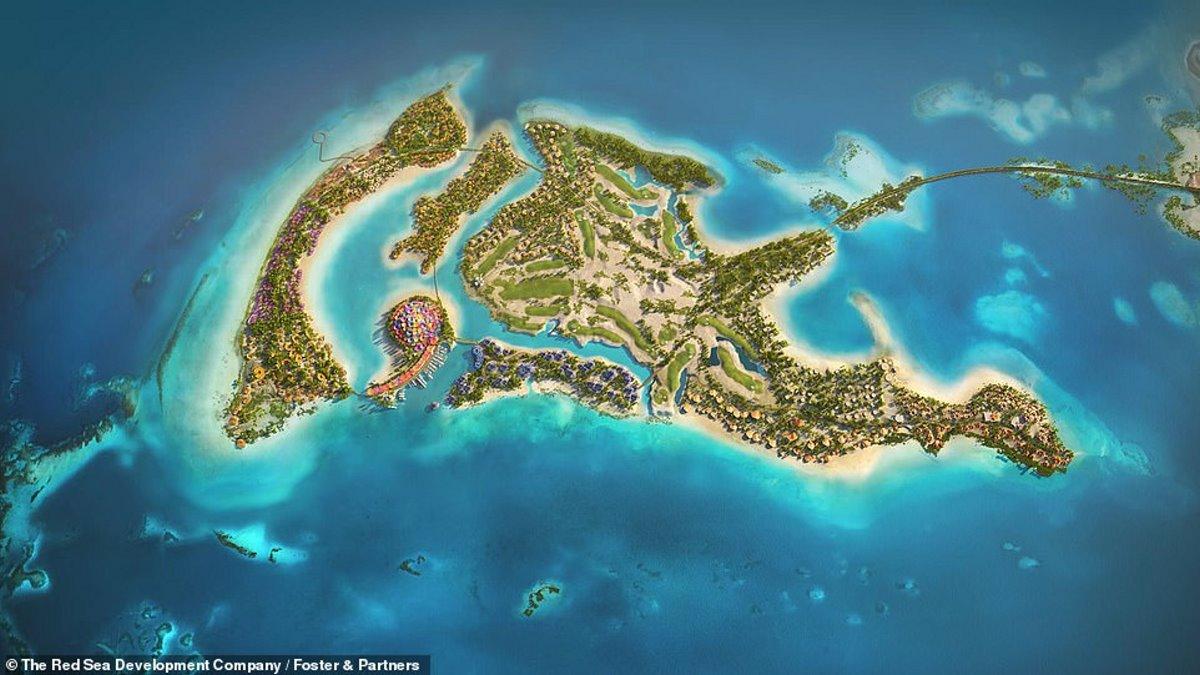 Το τεχνητό νησί για το Coral Bloom στη Σαουδική Αραβία