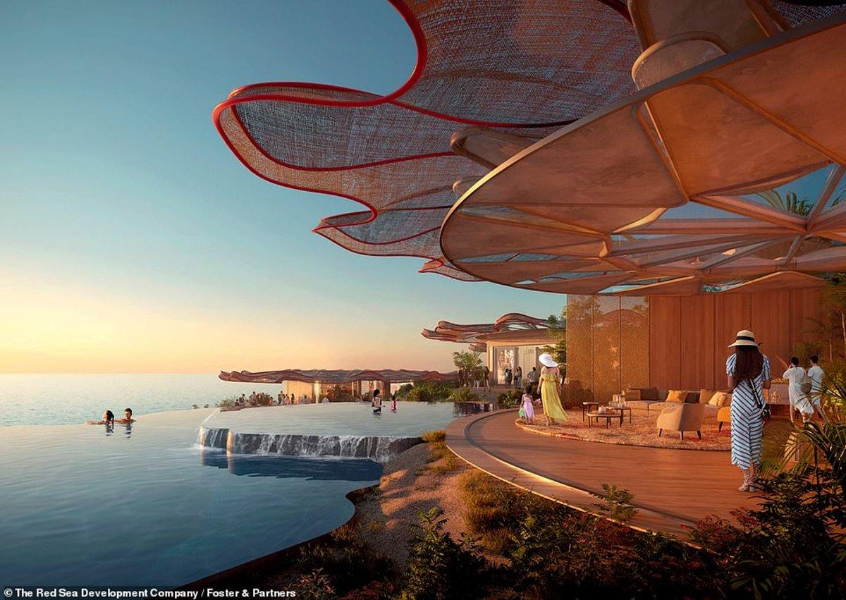 Coral Bloom Σαουδική Αραβία giga resort στην πισίνα