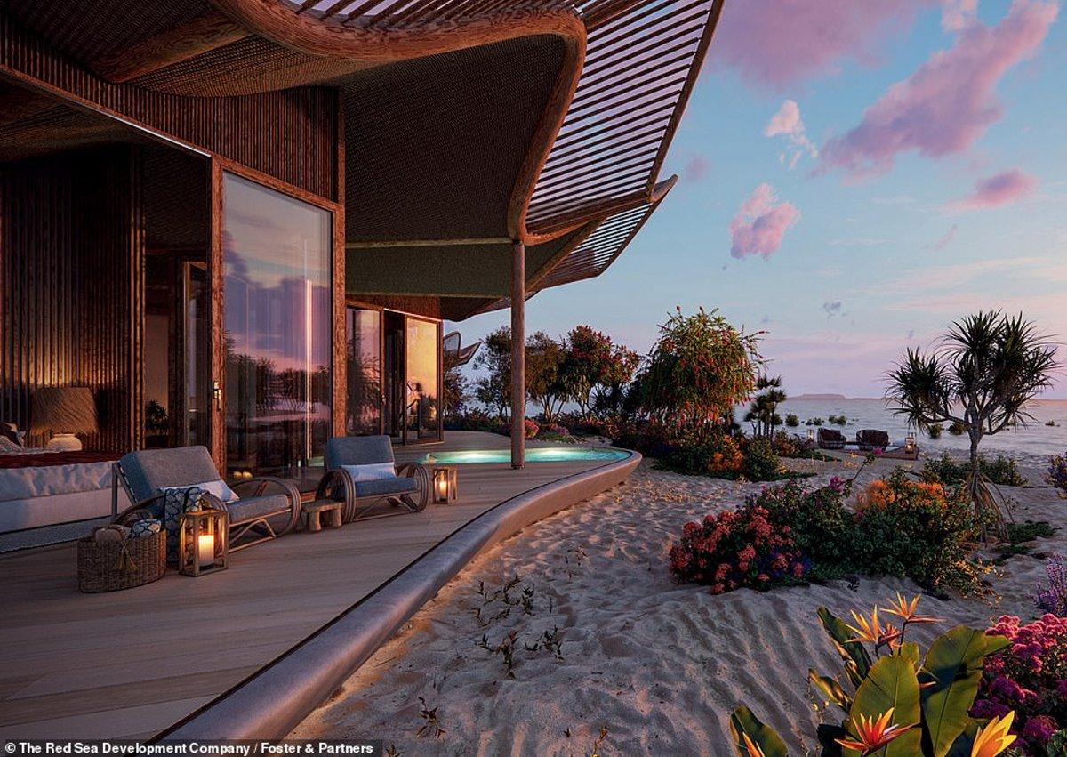 Η βεράντα στα δωμάτια του giga resort πάνω στην παραλία