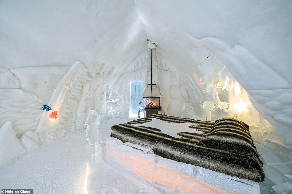 Δωμάτιο στο παγωμένο ξενοδοχείο του Καναδά