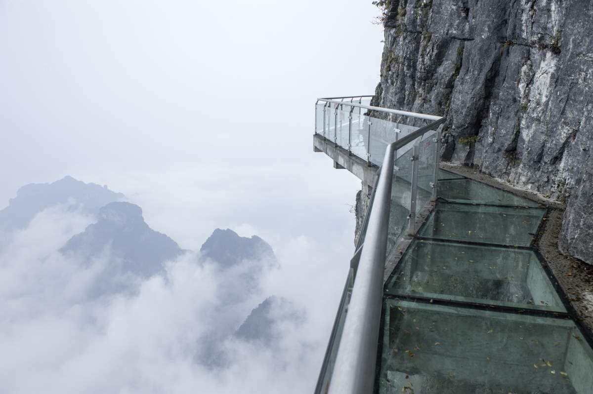 Tianmen Mountain, Κίνα, γυάλινη σκάλα