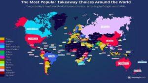 Ο χάρτης που δείχνει τα πιο δημοφιλή take away στον κόσμο – Τι τρώνε πιο πολύ οι Έλληνες;