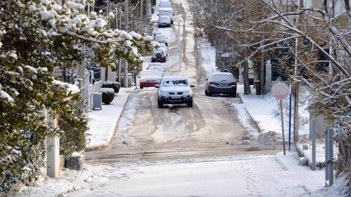 καιρός 15-2 κακοκαιρία Μήδεια χιόνια αθήνα