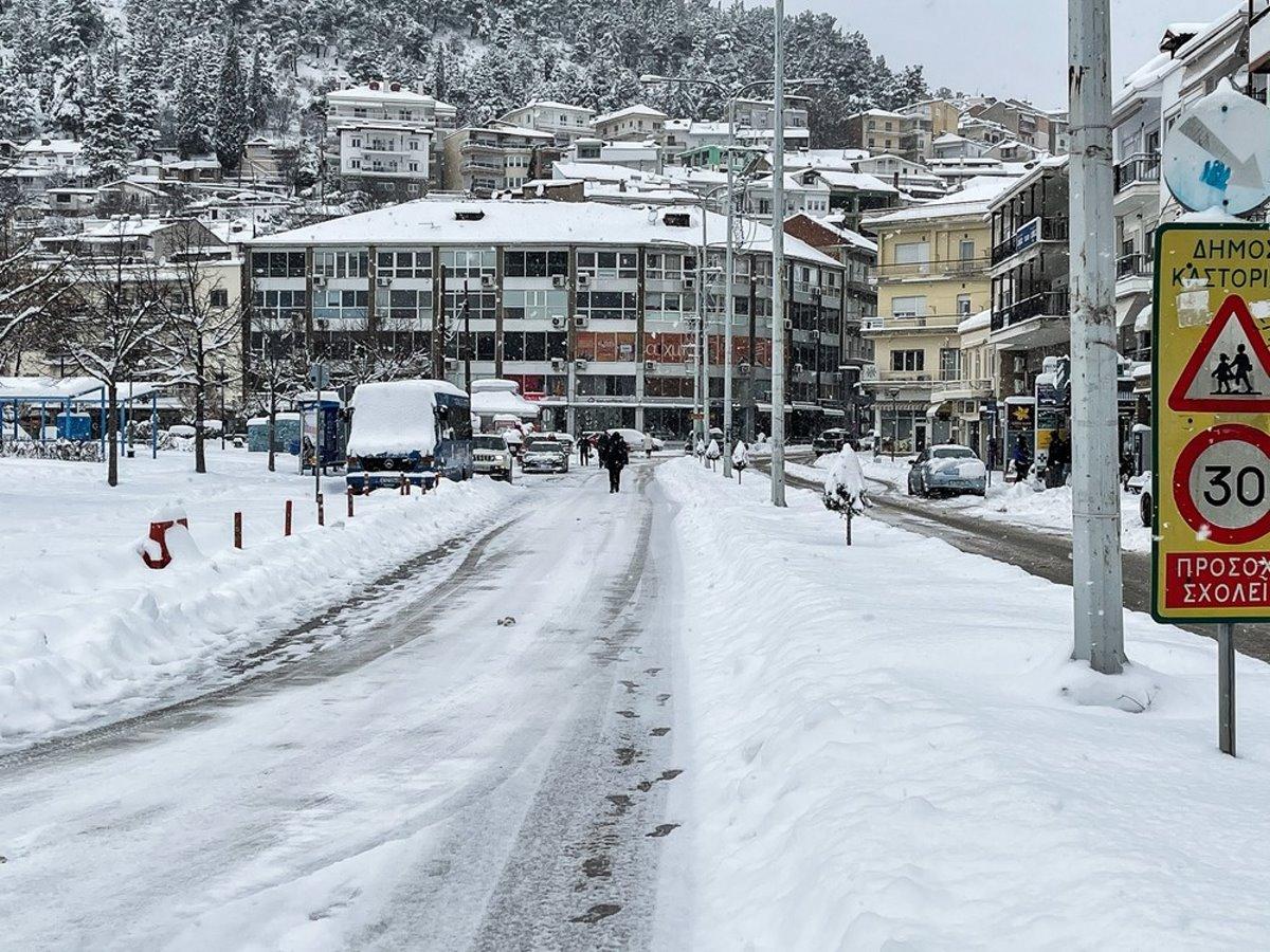 Καστοριά χιονισμένη