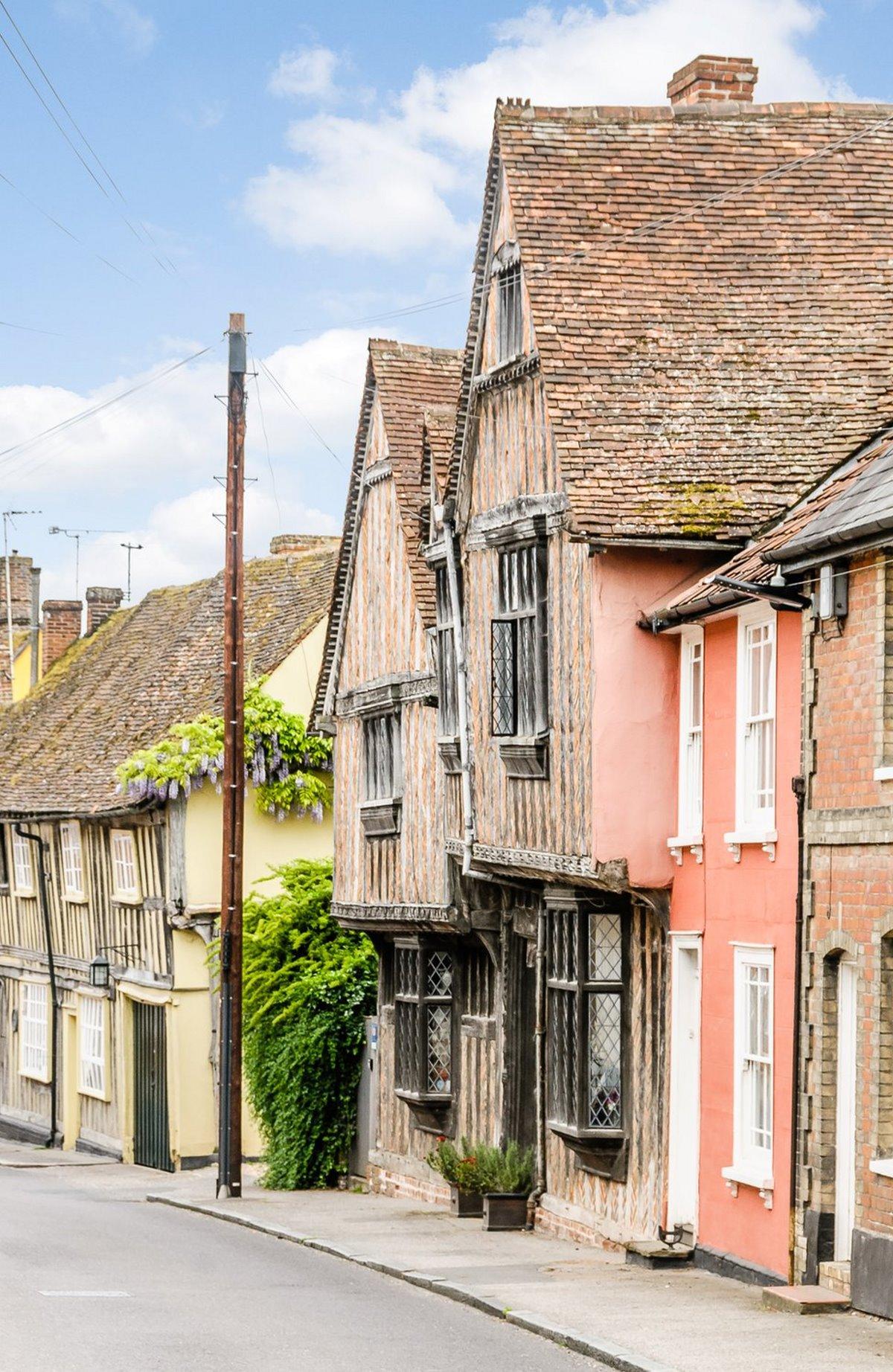 Lavenham, Αγγλία παραδοσιακά σπίτια