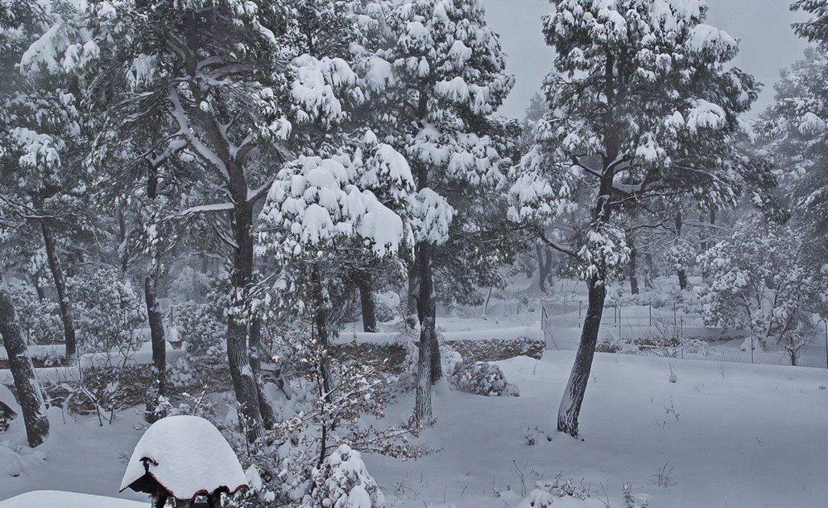 Λίμνη Μπελέτσι Αττική χιόνια Μήδεια