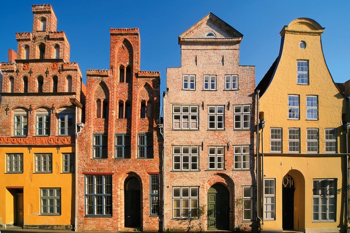 Παραδοσιακά σπίτια στο ιστορικό κέντρο του Λούμπεκ