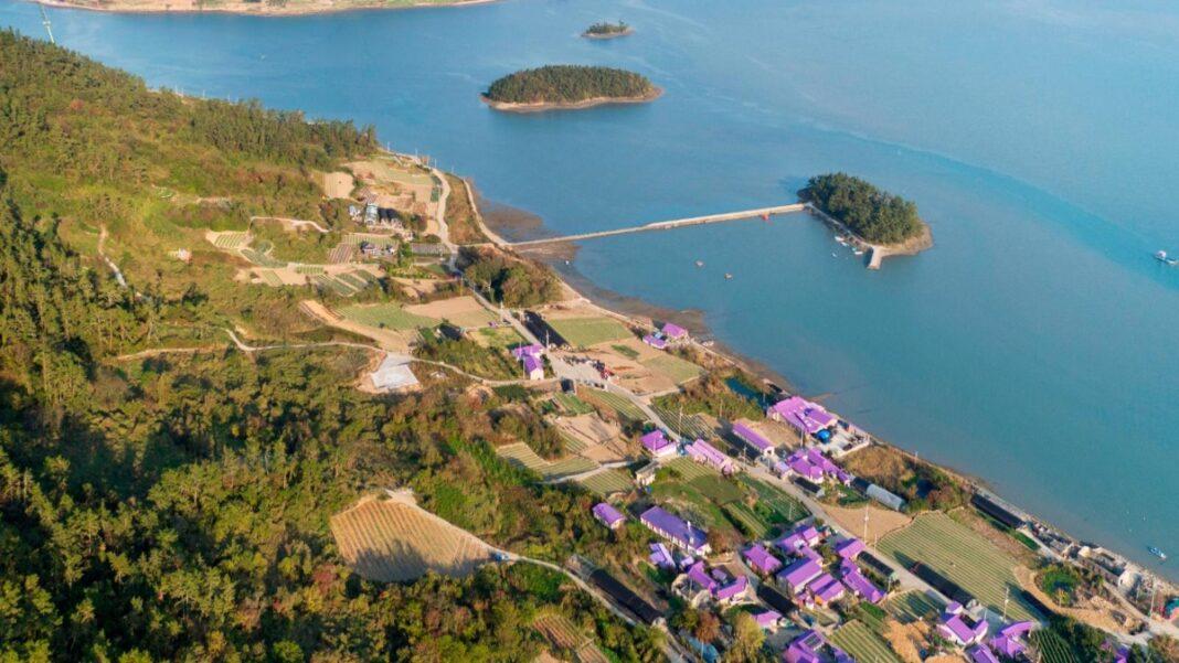 Μοβ νησί Νότια Κορέα