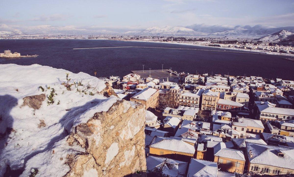 χιονισμένο Ναύπλιο