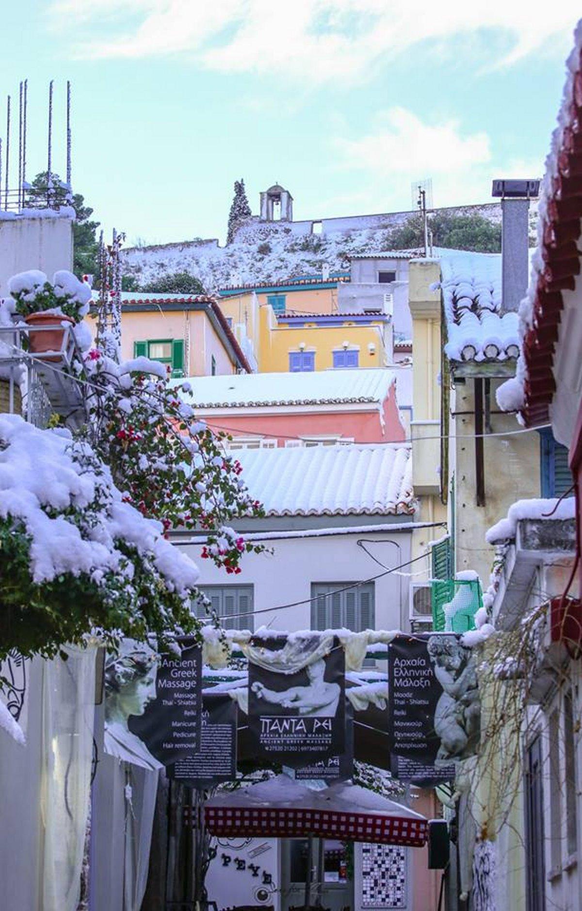 Νάπολη της Ανατολής με χιόνια
