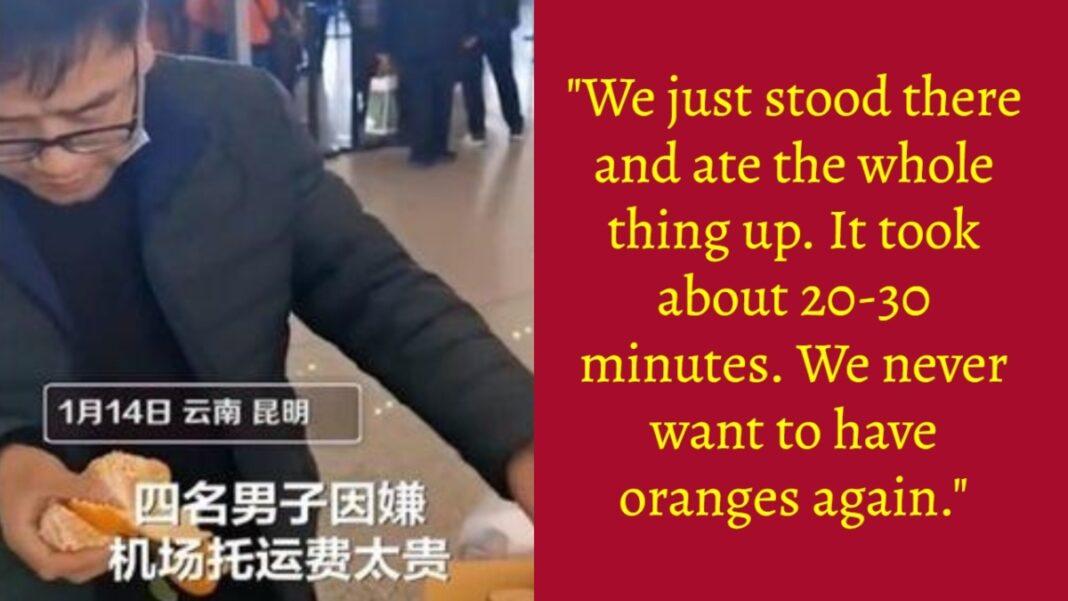 Κίνα αεροδρόμιο ταξιδιώτης πορτοκάλια