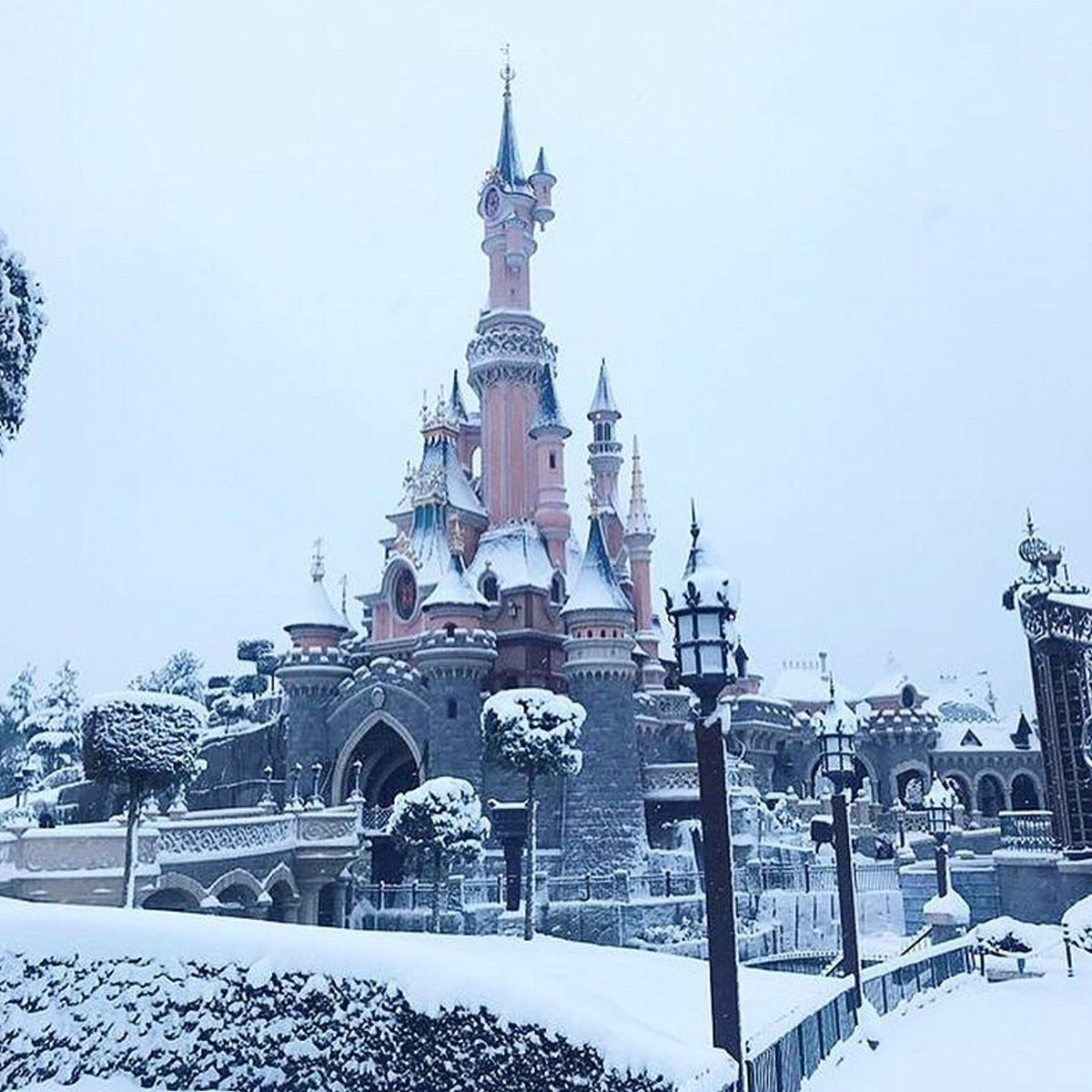 Disneyland Παρίσι χιόνια
