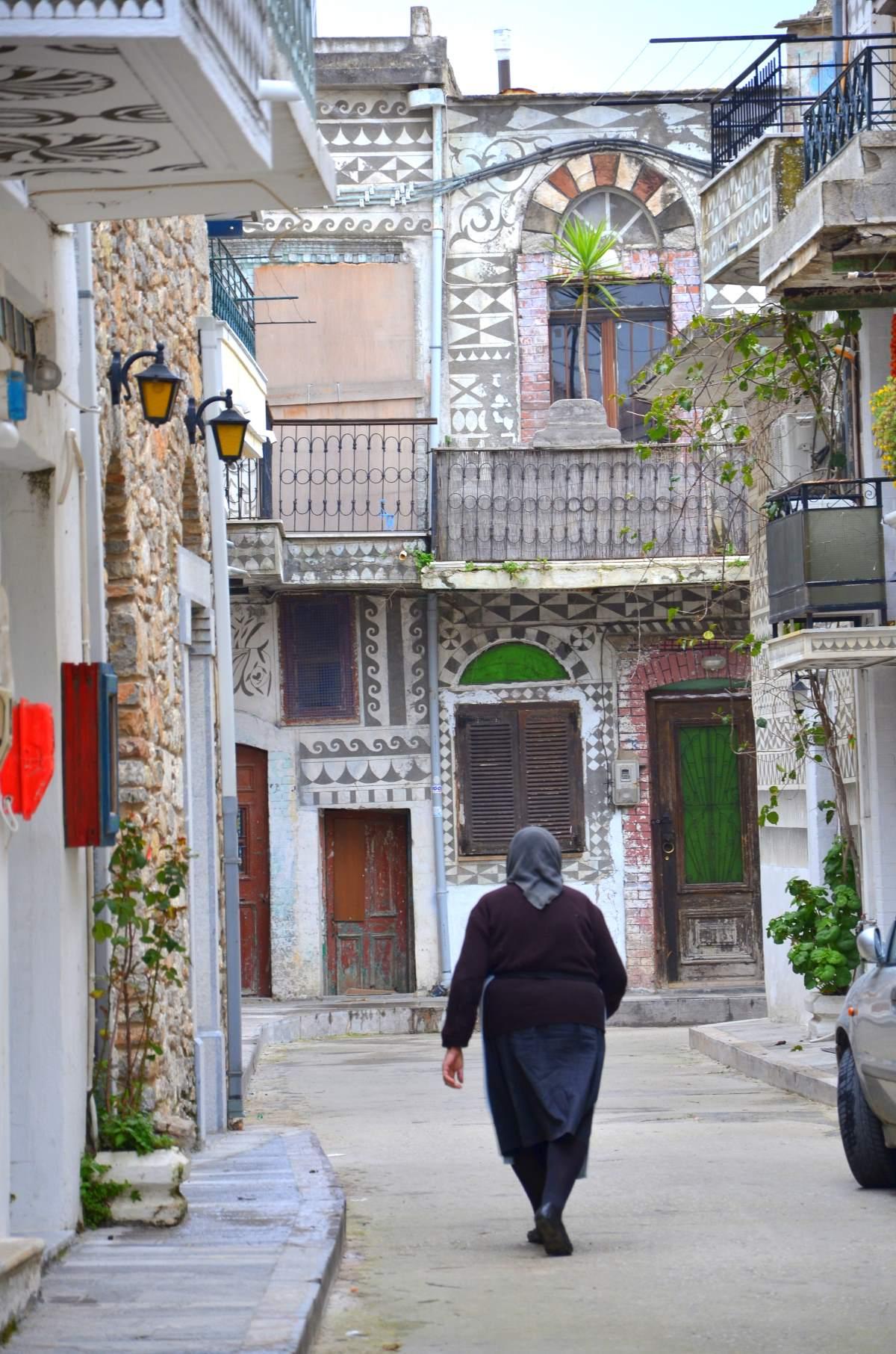 """Πυργί Χίος, τα """"ζωγραφισμένα"""" σπίτια"""