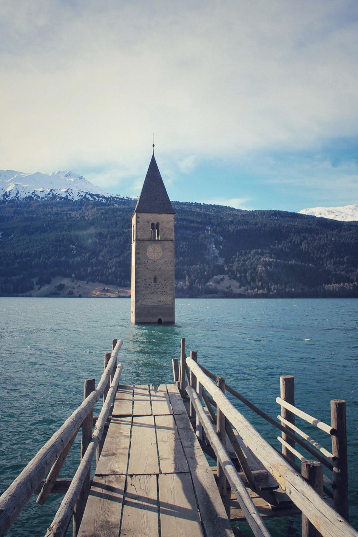 Λίμνη Ρέτσεν, Νότιο Τιρόλο, Ιταλία