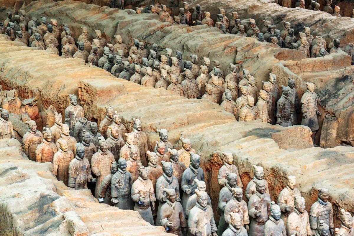 Οι πολεμιστές από τερακότα, Κίνα