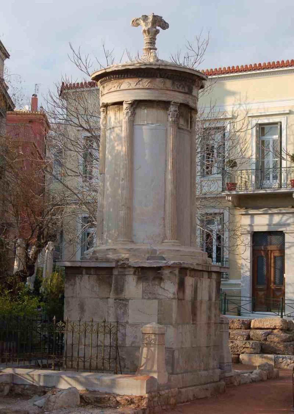 Μνημείο Λυσσικράτη οδός Τριπόδων αρχαιότερος δρόμος