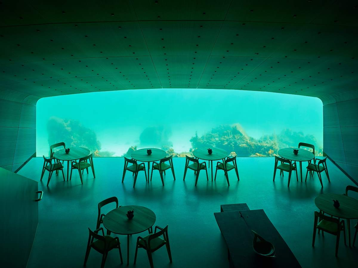 Under, Νορβηγία  το πιο Instagrammable εστιατόριο στον κόσμο, εσωτερικό