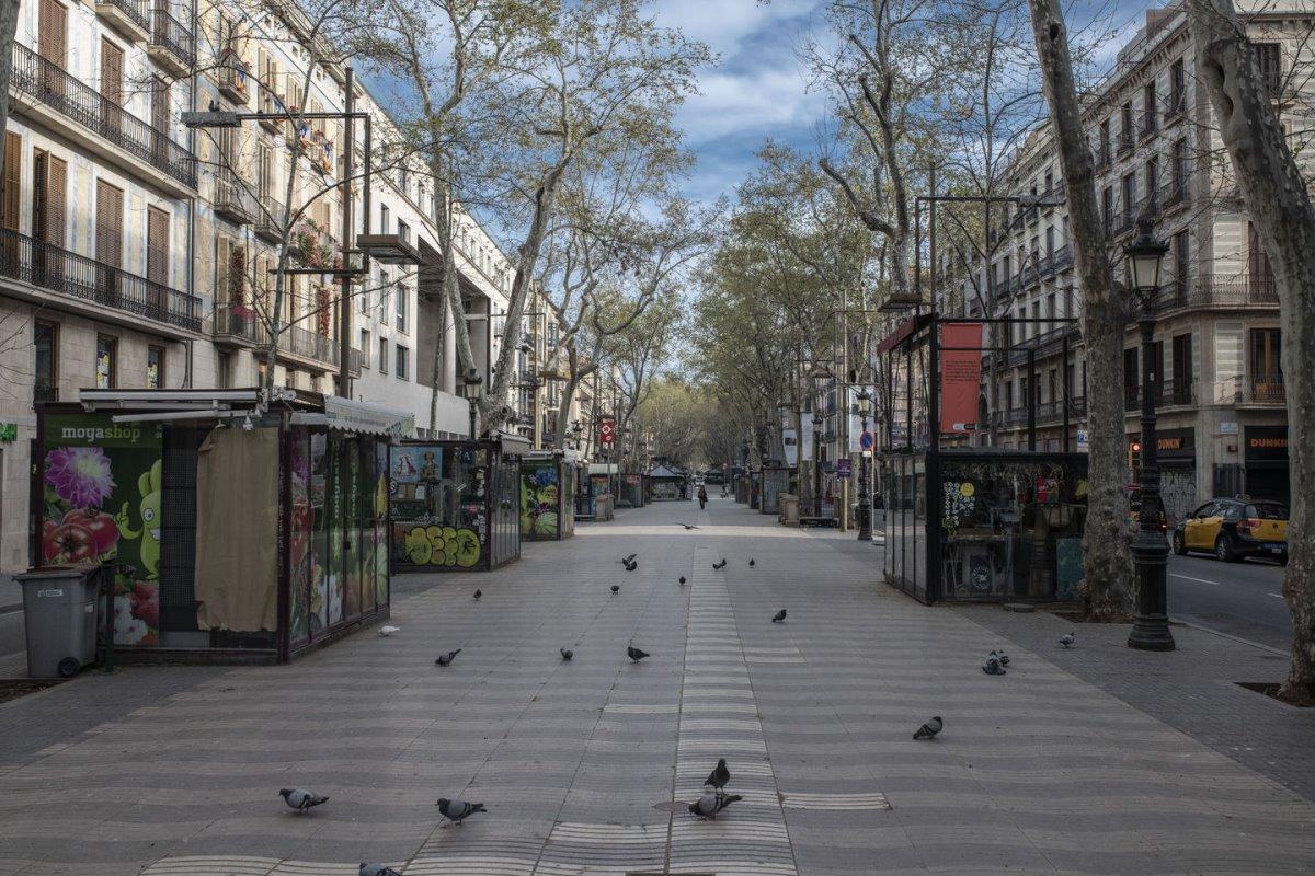 Βαρκελώνη άδεια πόλη από κόσμο