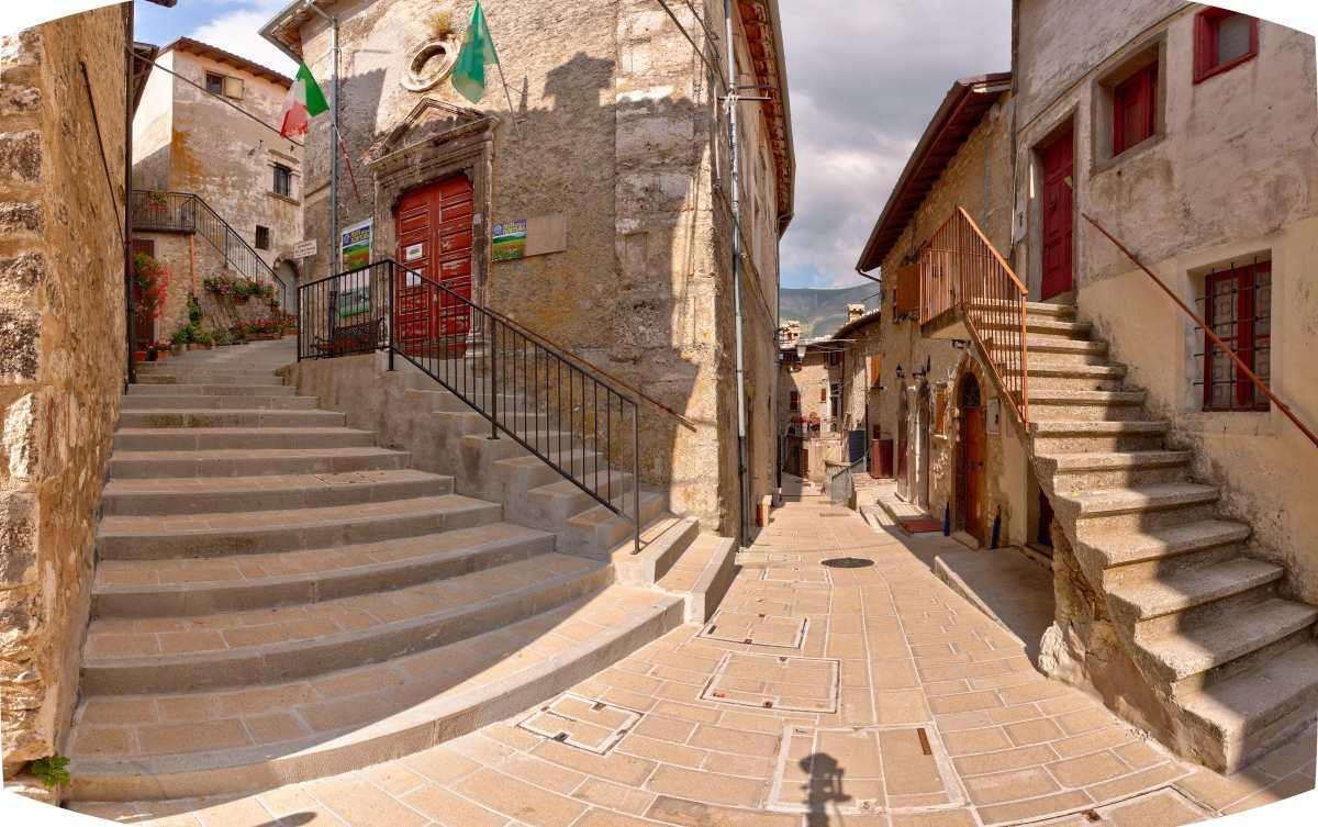 Castelluccio μέσα στο χωριό