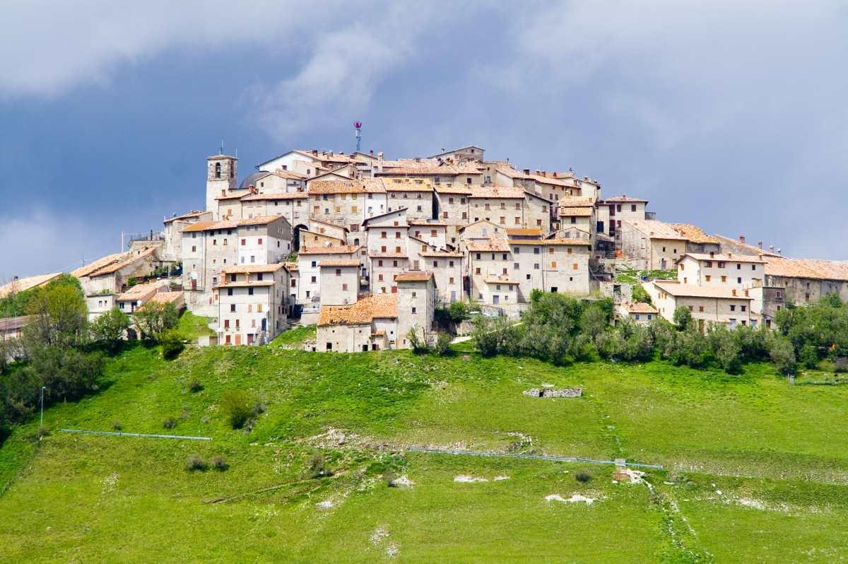 Castelluccio χωριό Ιταλία