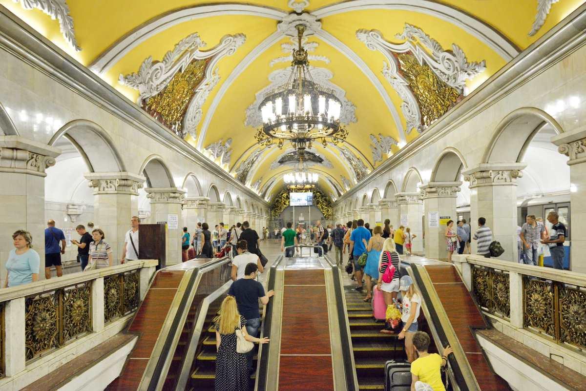 Komsomolskaya Metro station, Μόσχα