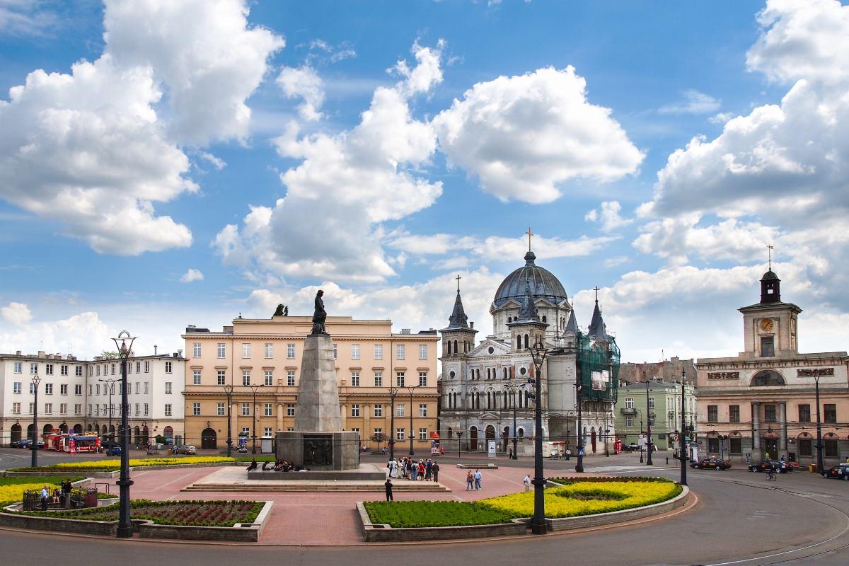 Λοτζ, Πολωνία, πλατεία