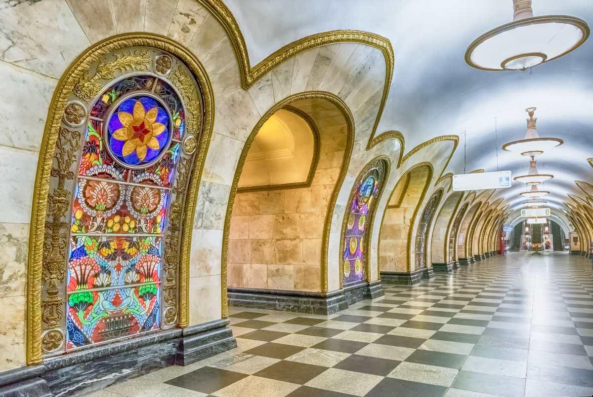 Novoslobodskaya subway station, Μόσχα
