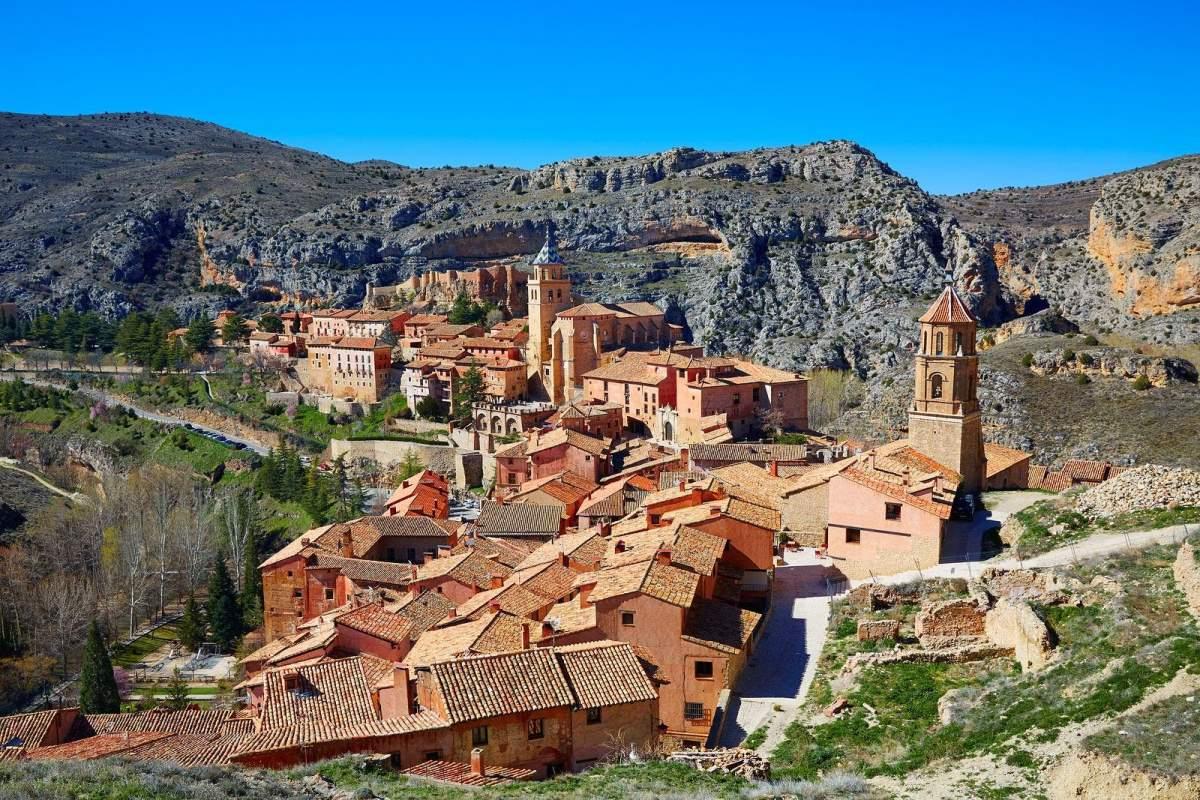 Πανοραμική λήψη από το Albarracin