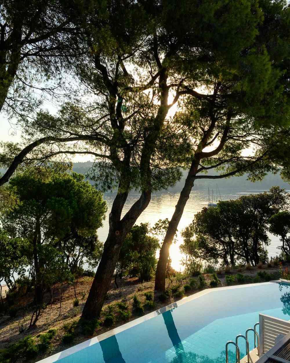 Elivi Skiathos pool & view