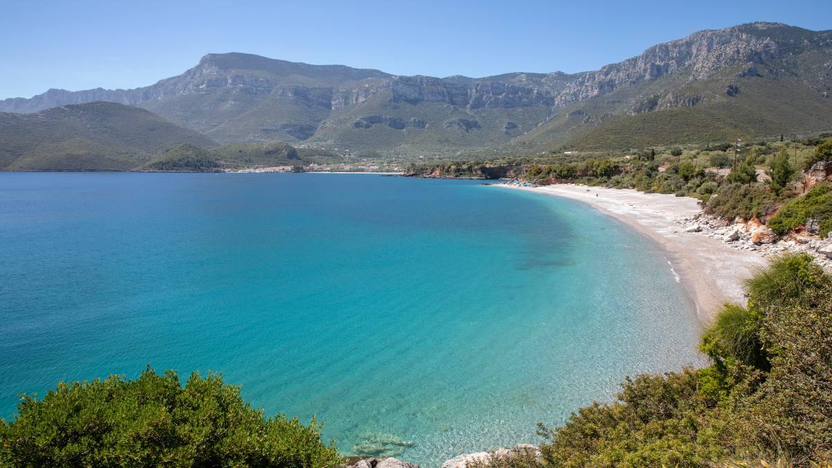 παραλία της Αγίας Κυριακής, Κυπαρίσσι Λακωνίας