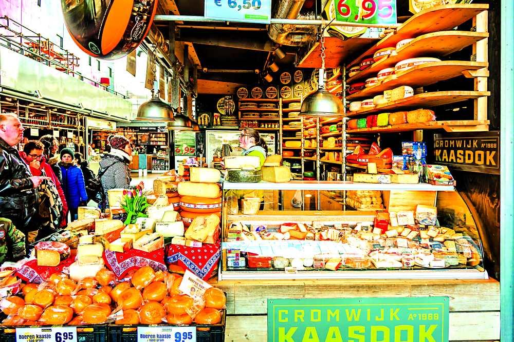 Markthal αγορά, πάγκοι