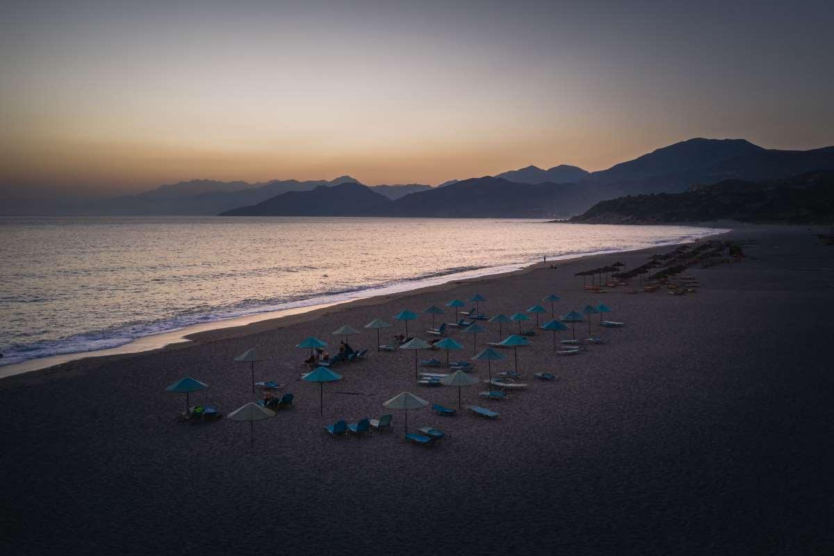 Τριόπετρα, παραλία Ρέθυμνο