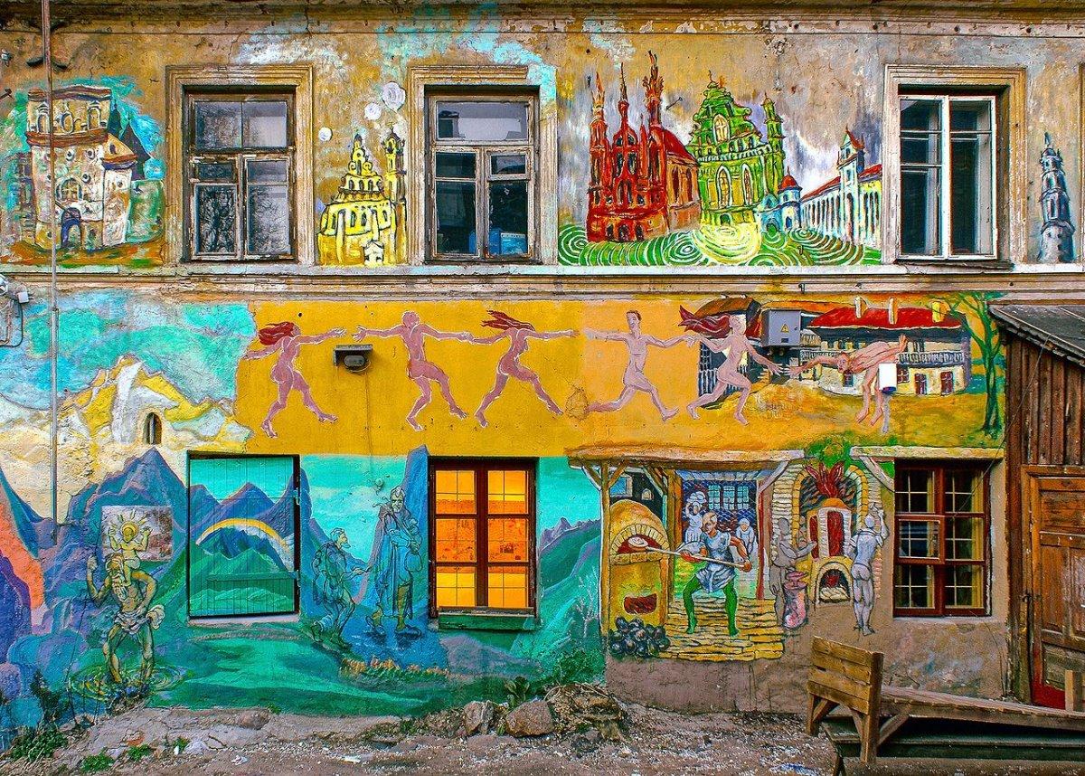 Η μποέμ γειτονιά του Uzupis Λιθουανία