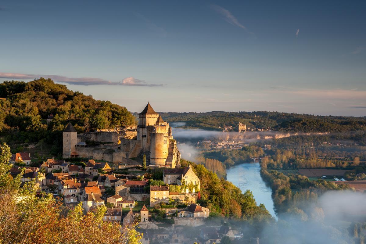 Beynac Γαλλία πανοραμική