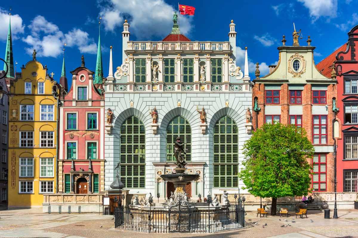 Η όμορφη αρχιτεκτονική των κτηρίων στο Gdańsk