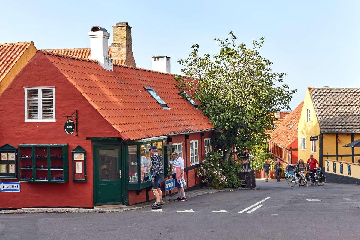 Bornholm Δανία - τουρίστες
