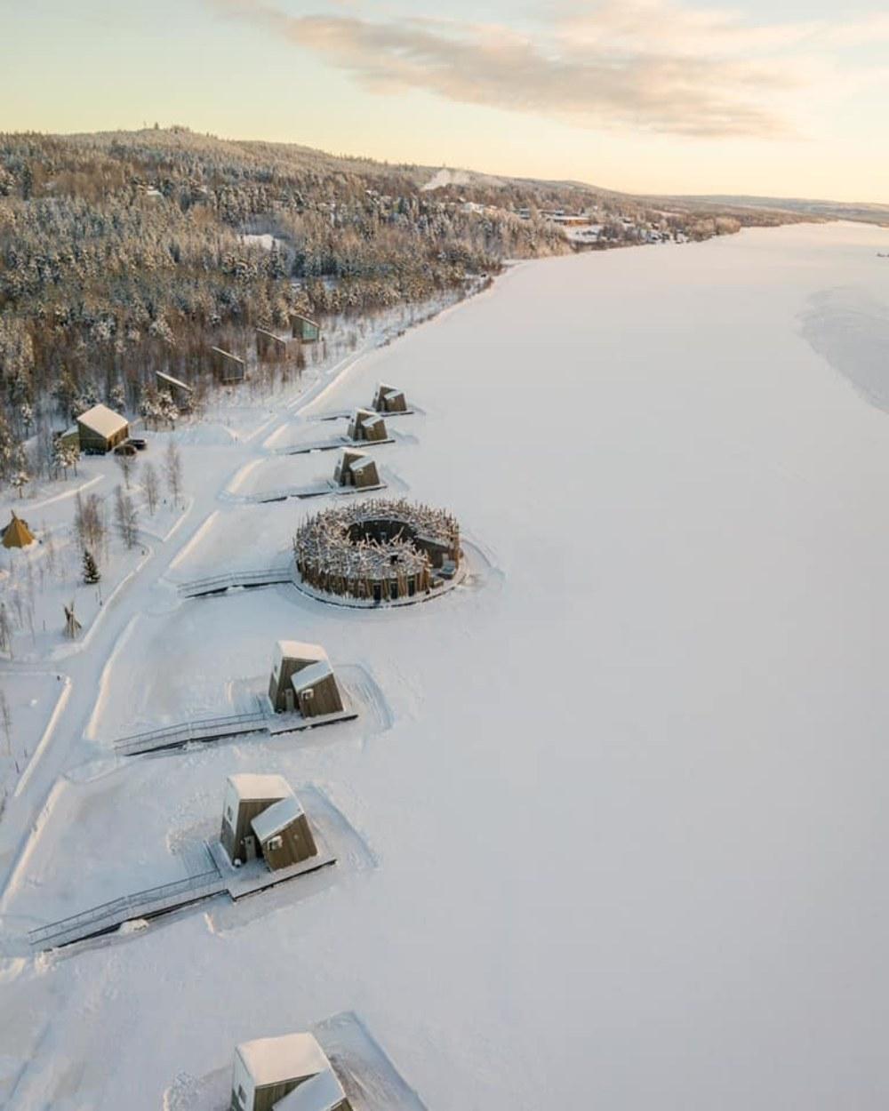 Arctic Bath Hotel Σουηδία -χιόνια