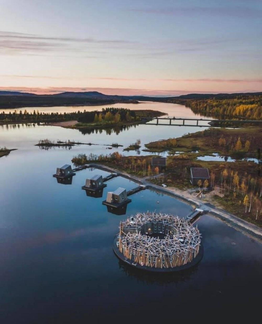 Arctic Bath Hotel Σουηδία- πανοραμική