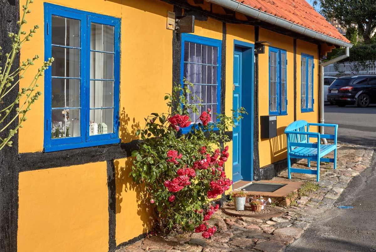 Τα πολύχρωμα σπίτια στο Bornholm, Δανία