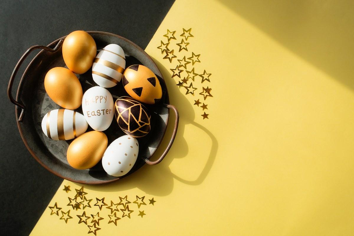 Πασχαλινά αυγά-Διακόσμηση με λαστιχάκια
