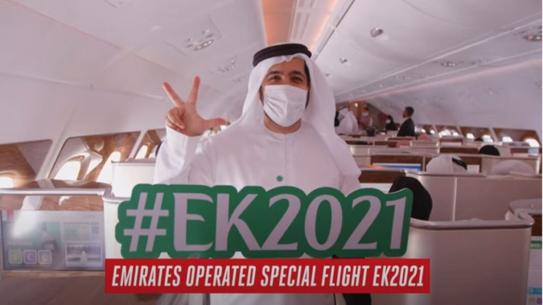 Η εορταστική πτήση της Emirates